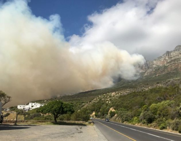 Fire rages close to Cape Town's famous 12 Apostles Hotel